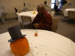 A pilgrim pumpkin -- repurposed from last decor