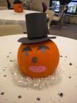 A Pilgrim Pumpkin with Eye Brows