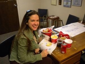 Smile courtesy of Jennifer, food courtesy of Jordan.